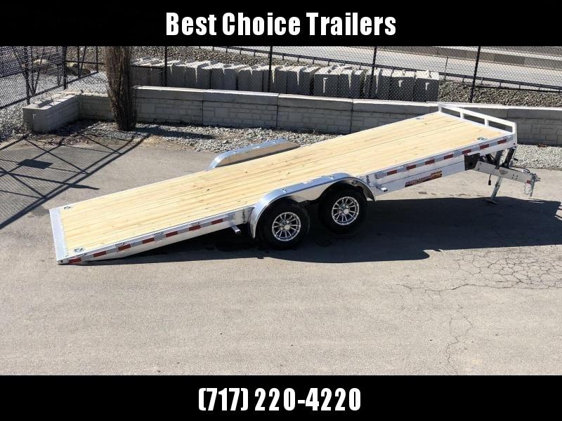 "2020 H&H 7x22' Aluminum Power Tilt Car Trailer 14000# GVW * 4 SWIVEL D-RINGS * 4 EXTRA STAKE POCKETS * 12K JACK  * SPARE TIRE & MOUNT * TOOLBOX * ALUMINUM WHEELS * HEAVY DUTY 8"" FRAME * REMOVABLE FENDERS * ADJUSTABLE COUPLER * 4"" CHANNEL C/M"