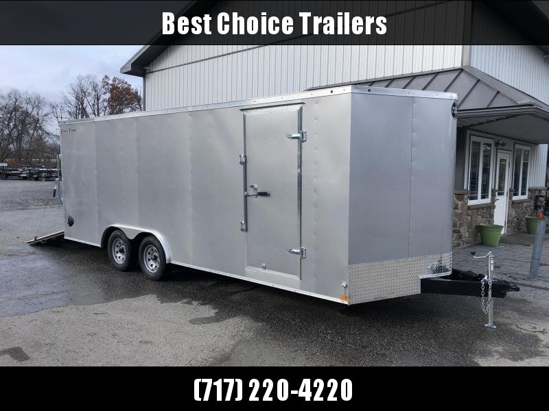 2021 Wells Cargo 8.5x24' Fastrac DELUXE Enclosed Car Trailer 9990# GVW * SILVER EXTERIOR * 5200# AXLES * RAMP DOOR * .030 METAL