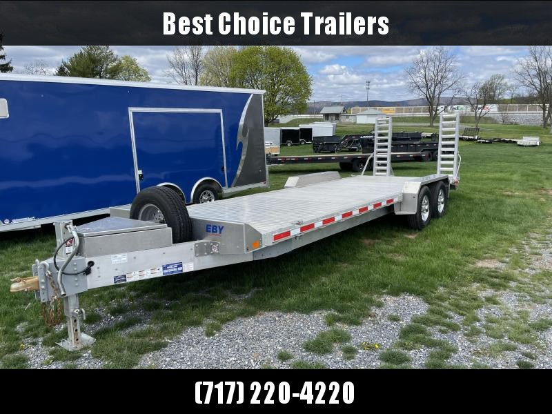 USED 2020 EBY 7x24' Equipment Trailer 14000# GVW * TORSION * EXTRUDED ALUMINUM FLOOR * HD FRAME * TOOLBOX * SPARE TIRE * STAND UP RAMPS