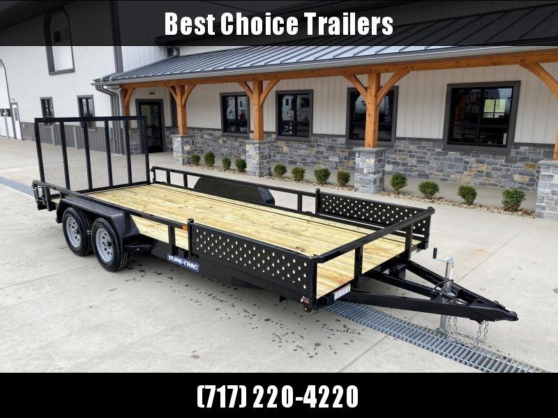 2021 Sure-Trac 7x18' Tube Top ATV Side Ramps Utility Landscape Trailer 7000# GVW