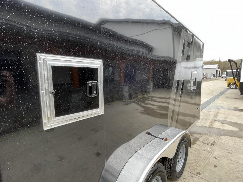 "2021 Neo 7x22' NASR Aluminum Round Top Enclosed All-Sport Trailer 7000# GVW * 7' HEIGHT UTV PKG * 2-TONE EXTERIOR W/ JD SLASH * FRONT/REAR NXP RAMP * VINYL WALLS * SPORT TIE DOWN SYSTEM * 16"" O.C. FLOOR * PRO STAB JACKS * UPPER CABINET * ALUMINUM WHEELS *"