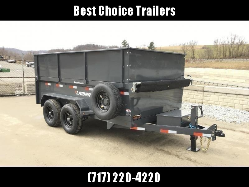 2021 Lamar DM10 77x12' 9990# Low Profile Dump Trailer * 3.5' HIGH SIDES * 12K JACK * TARP KIT  * ADJUSTABLE COUPLER * CHARCOAL * SPARE TIRE