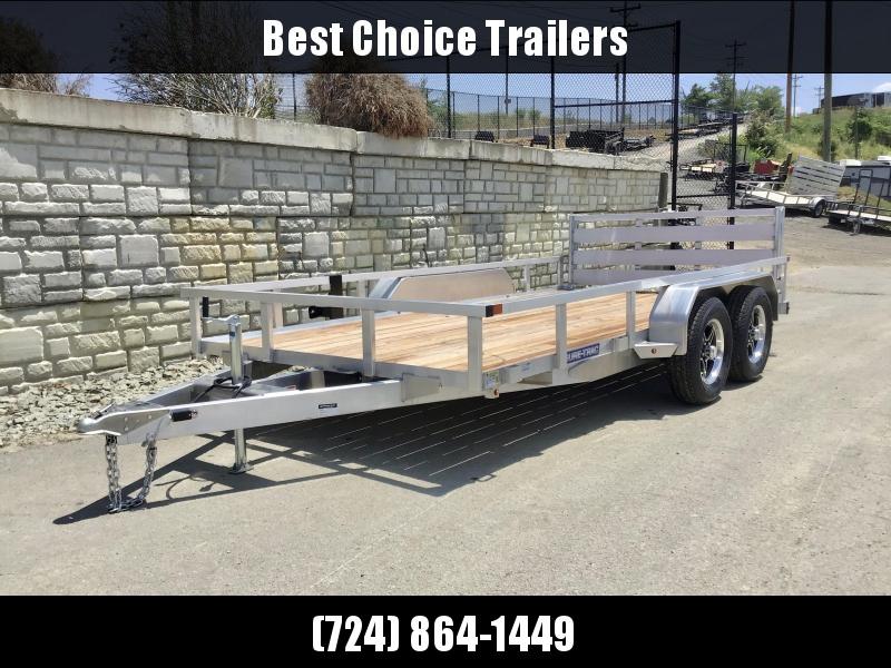 2021 Sure Trac 7x16' Tube Top Aluminum Utility Landscape Trailer 7000# GVW * ALUMINUM WHEELS * BI-FOLD GATE