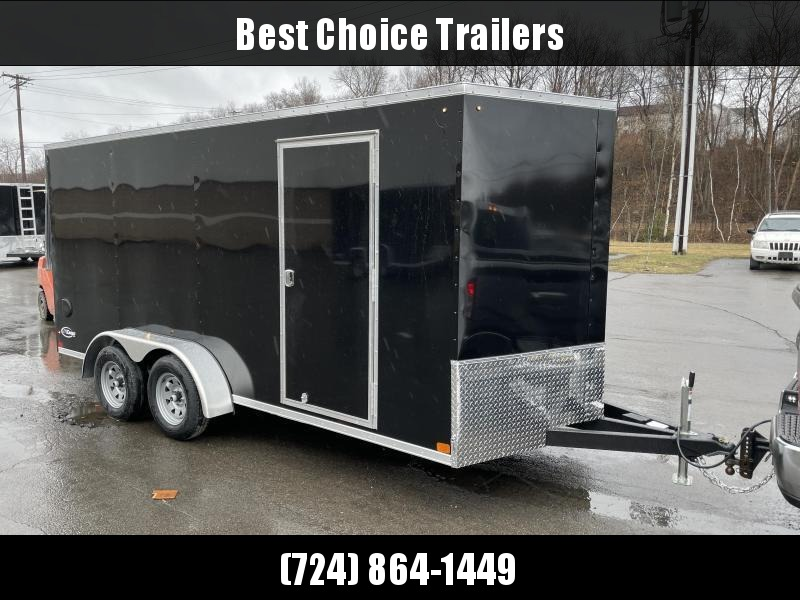 "2021 ITI Cargo 7x16' Enclosed Cargo Trailer 7000# GVW * BARN DOORS * WHITE EXTERIOR * .030 SEMI-SCREWLESS * 1 PC ROOF * 6'6 INTERIOR * 3/8"" WALLS * 3/4"" FLOOR * PLYWOOD * 24"" STONEGUARD * HIGH GLOSS PAINTED FRAME * RV DOOR"