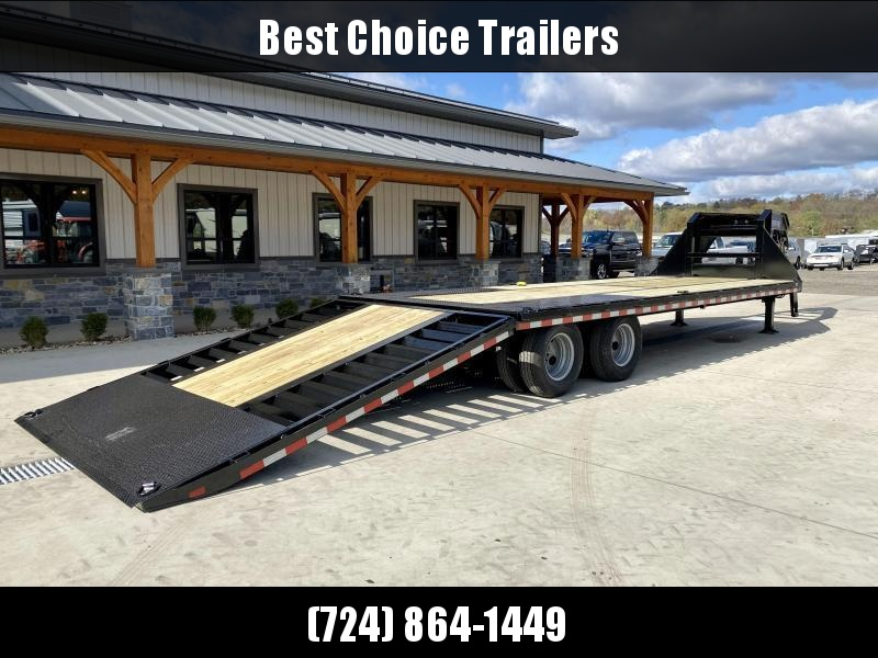 "2021 Sure-Trac 102x22+10' Gooseneck Hydraulic Dovetail Deckover Trailer 22500# GVW * DUAL HYDRAULIC JACKS * 10' CLEATED DOVETAIL * DUAL 5"" LIFT CYLINDERS * PIERCED FRAME * CROSS TRAC BRACING * RUBRAIL/STAKE POCKETS/PIPE SPOOLS/10 D-RINGS * LOW LOAD ANGLE!"