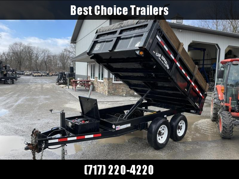 USED 2008 Cam Superline 6x10' Deckover Dump Trailer * FOLD DOWN SIDES * SLIPPER SPRINGS * TARP KIT * SPARE TIRE * DEXTER'S * CLEAN FRAME * HD COUPLER * 7000# JACK