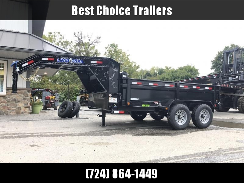 "2020 Load Trail 7x12' Gooseneck Dump Trailer 14000# GVW * 3-WAY GATE * 8"" I-BEAM FRAME * TARP KIT * SCISSOR HOIST * 6"" TUBE BED FRAME * 110V CHARGER * ADJUSTABLE COUPLER * 10GA 2PC SIDES/FLOOR * INTEGRATED KEYWAY * POWDER PRIMER * 12K JACK"
