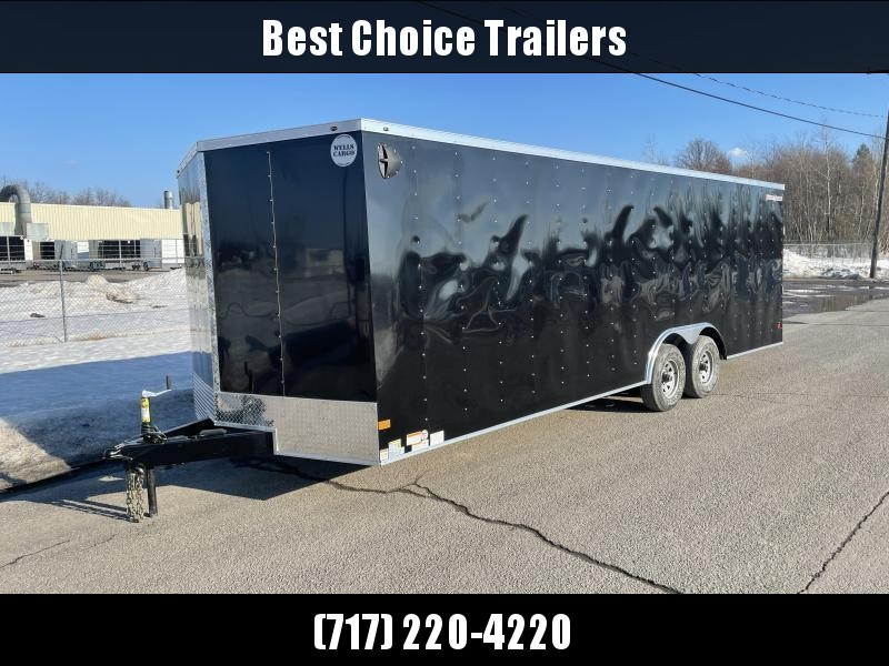 """2022 Wells Cargo 8.5x20' Fastrac DELUXE Enclosed Cargo Trailer 7000# GVW * WHITE EXTERIOR * RAMP DOOR * V-NOSE * .030 EXTERIOR * 6'6"""" HEIGHT * TUBE STUDS * 3/8"""" WALLS * 1 PC ROOF * 16"""" O.C. WALLS * BULLET LED'S"""