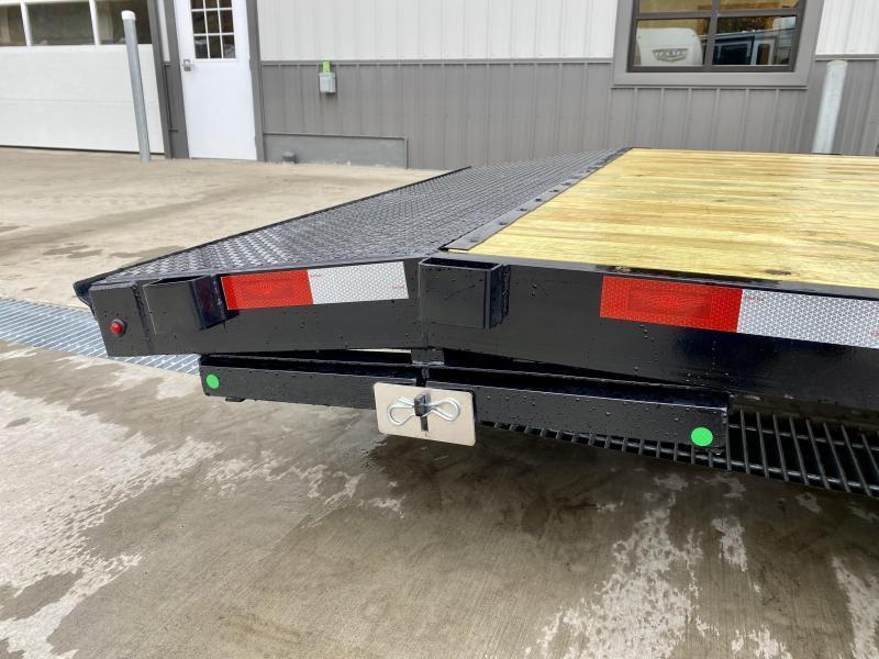 2021 H&H 7x20' Wood Deck Car Hauler Trailer 9900# * SLIDE OUT RAMPS * DIAMOND PLATE FENDERS * DIAMOND PLATE DOVETAIL * SEALED WIRING HARNESS * SET BACK JACK * STAKE POCKETS * SPARE MOUNT * CLEARANCE