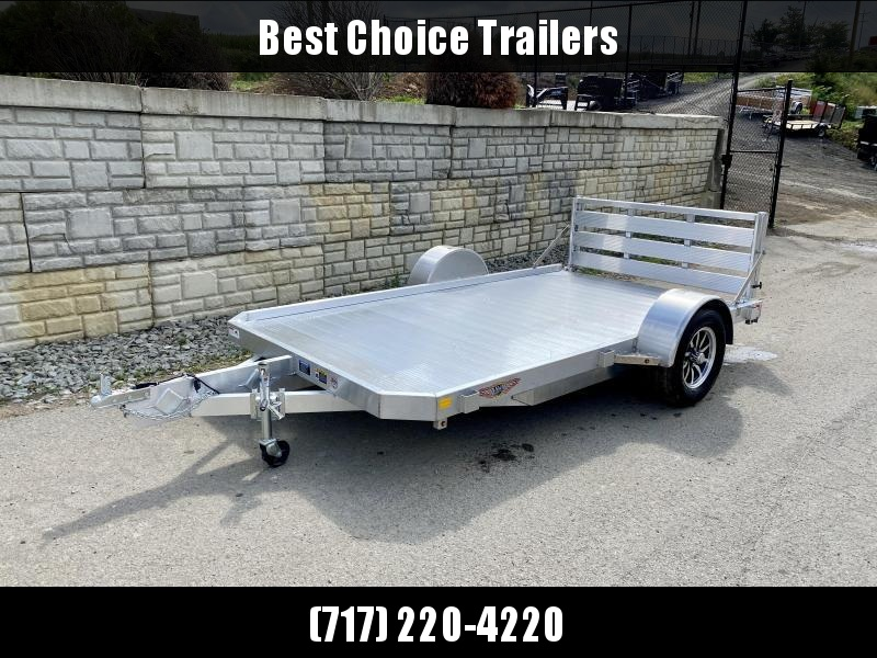 "2021 H&H 76x10' Aluminum Utility Landscape Trailer 2990# GVW * EXTRUDED ALUMINUM FLOOR * BI FOLD GATE * ALUMINUM WHEELS * TRIPLE TUBE TONGUE * TUBE TONGUE * SWIVEL JACKS * STAKE POCKETS * EXTENDED 54"" GATE"