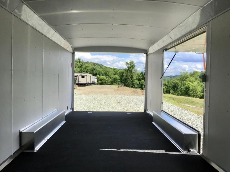 2021 NEO 8.5X26' Aluminum Enclosed Car Hauler Trailer 9990# GVW * BLACK EXTERIOR * EXTRUDED FLOOR * SPREAD AXLE * ESCAPE DOOR * ALUMINUM WHEELS * CABINETS * FINISHED WALLS/CEILING