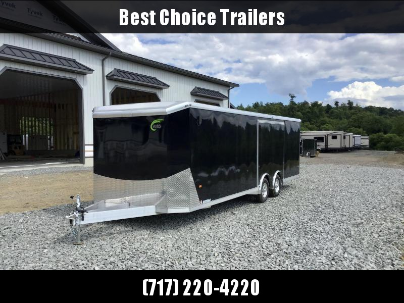 2021 NEO 8.5X26' Aluminum Enclosed Car Hauler Trailer 9990# GVW * SILVER EXTERIOR * EXTRUDED FLOOR * SPREAD AXLE * ESCAPE DOOR * ALUMINUM WHEELS * CABINETS * FINISHED WALLS/CEILING
