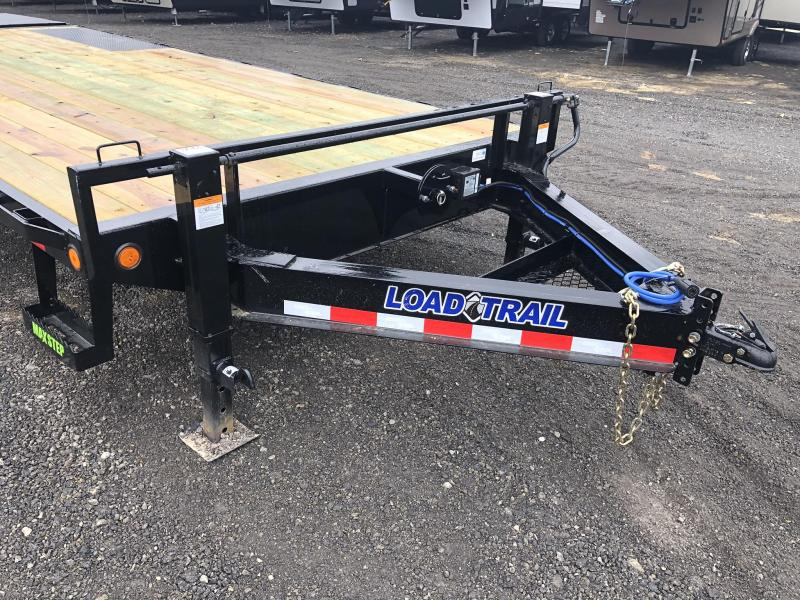 """2021 Load Trail 102x24' Beavertail Deckover Trailer 14000# GVW * DUAL JACKS * FULL WIDTH (FLIPOVER OR STAND UP) RAMPS + SPRING ASSIST  * DEXTER'S * TOOL TRAY * HD COUPLER * I-BEAM FRAME * 16"""" O.C. C/M * RUBRAIL/STAKE POCKETS/PIPE SPOOLS * 2-3-2 WARRANTY"""