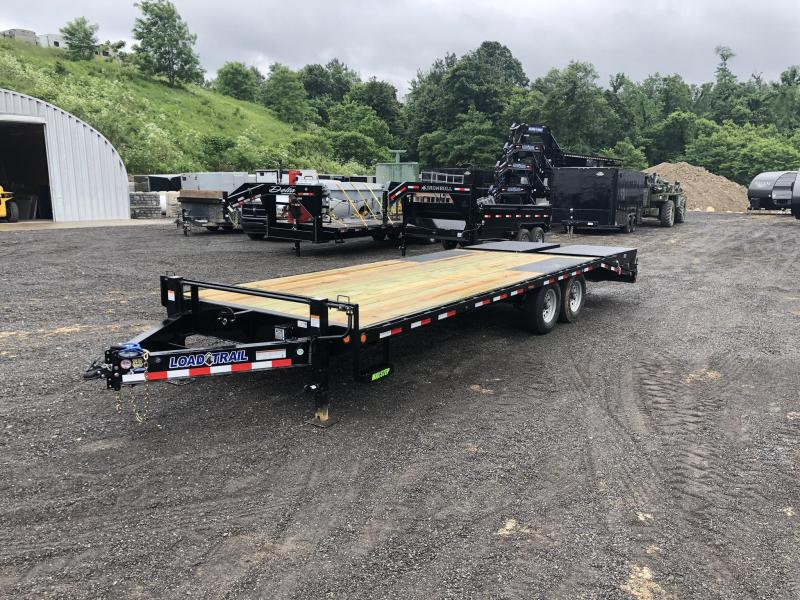 "2021 Load Trail 102x24' Beavertail Deckover Trailer 14000# GVW * DUAL JACKS * FULL WIDTH (FLIPOVER OR STAND UP) RAMPS + SPRING ASSIST  * DEXTER'S * TOOL TRAY * HD COUPLER * I-BEAM FRAME * 16"" O.C. C/M * RUBRAIL/STAKE POCKETS/PIPE SPOOLS * 2-3-2 WARRANTY"