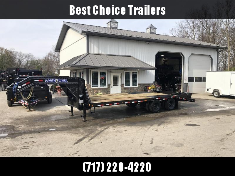 "2019 Load Trail 102x25' Gooseneck Beavertail Deckover Trailer 25990# GVW * FLIPOVER RAMPS+SPRING ASSIST * HDSS SUSPENSION * SPARE TIRE * 12""/19#  I-BEAM FRAME * FRONT TOOLBOX * DUAL JACKS * PRIMER * DEXTER AXLES * 16"" O.C. C/M * 2-3-2 WARRANTY * CLEARANCE"