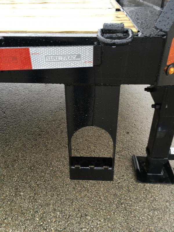 "2020 Sure-Trac 102x30' Gooseneck Beavertail Deckover Trailer 17600# GVW * 8000# AXLES * 17.5"" 16-PLY TIRES * 3 3/8"" BRAKES * DUAL JACKS * FULL TOOLBOX * FULL WIDTH RAMPS (STAND UP OR FLIPOVER) * 12"" I-BEAM * PIERCED FRAME * (10) 1"" D-RINGS * CROSS TRAC"