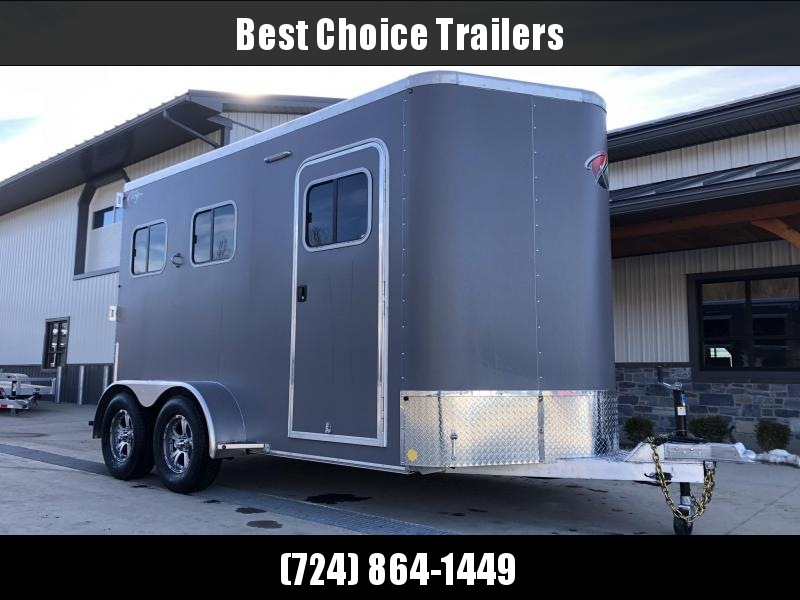 2021 Kiefer Built All Aluminum 2-Horse Slant Load Trailer 7000# GVW