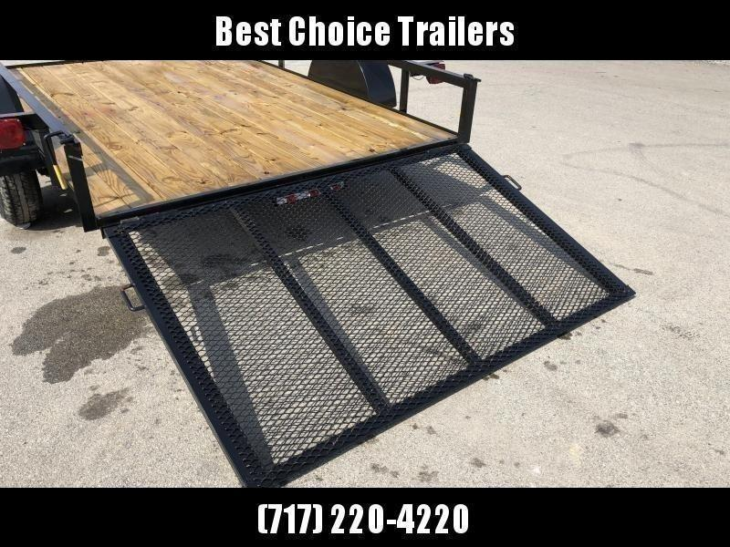 """2021 AMO 78x10' Utility Landscape Trailer 2990# GVW * 4' GATE * TOOLESS GATE REMOVAL * 3500# AXLE * 15"""" RADIAL TIRES * CLEARANCE"""