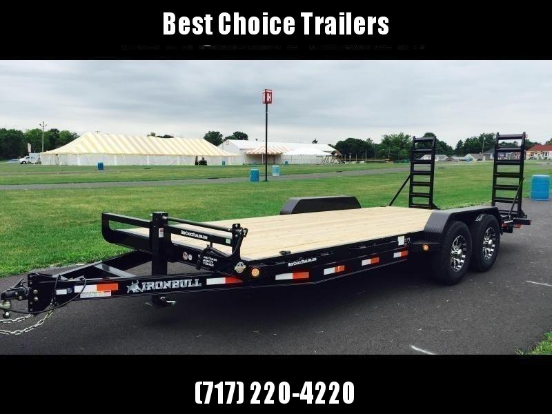 """2022 Ironbull 7x24' Equipment Trailer 14000# GVW * 8"""" CHANNEL TONGUE/FRAME UPGRADE * KNIFEEDGE RAMP W/ ADJUSTABLE SUPPORT * REMOVABLE FENDERS * 16"""" O.C. STRUCTURAL CHANNEL C/M * RUBRAIL/STAKE POCKETS/PIPE SPOOLS/D-RINGS * ADJUSTABLE COUPLER * CLEARANCE"""