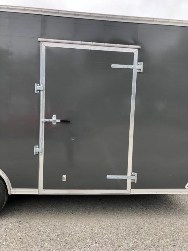USED 2018 Car Mate 8.5x20' Enclosed Car Hauler 9990# GVW * 7' INTERIOR UTV - EXTRA HEIGHT * SCREWLESS * E-TRACK * PLYWOOD * 5200# DEXTER TORSION