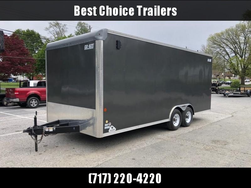 USED 2018 Car Mate 8.5x20' Enclosed Car Hauler 9990# GVW * 7' INTERIOR UTV - EXTRA HEIGHT * SCREWLESS * E-TRACK * PLYWOOD * 5200# DEXTER TORSION