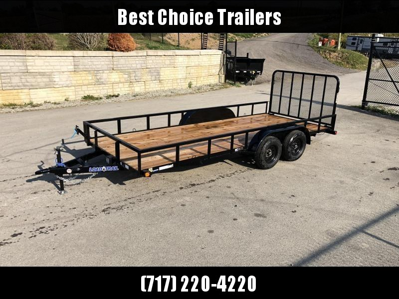 """2021 Load Trail 7x16' Utility Landscape Trailer 7000# GVW * BLACK * SPARE MOUNT * TUBE TOP * 4"""" CHANNEL FULL WRAP TONGUE * TUBE BUMPER * ALL LED'S * TIE DOWNS * TUBE GATE C/M * CAST COUPLER * COLD WEATHER HARNESS * DEXTER'S * 2-3-2 WARRANTY"""