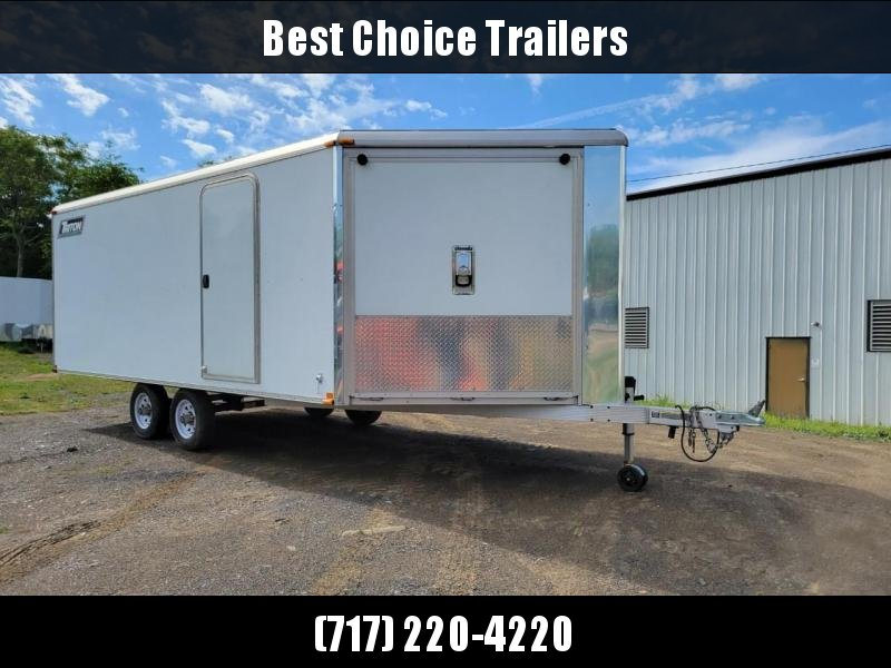 USED 2011 Triton 8.5x21' Aluminum All-Sport Trailer 7000# GVW * SNOWMOBILES * MOTORCYCLES * ATV'S * FINISHED WALLS AND CEILINGS * DEXTER TORSION * FRONT AND REAR RAMPS * PRESSURE TREATED PLYWOOD