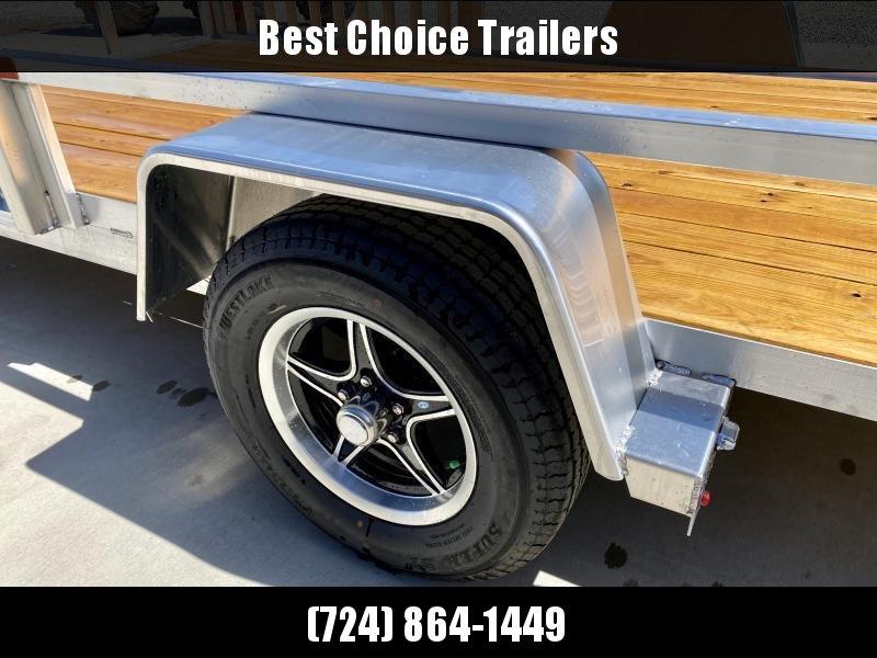 2021 Sure Trac 7x14' Aluminum Tube Top ATV Utility Landscape Trailer 2990# GVW * BI FOLD GATE * ALUMINUM WHEELS * ATV SIDE RAMPS