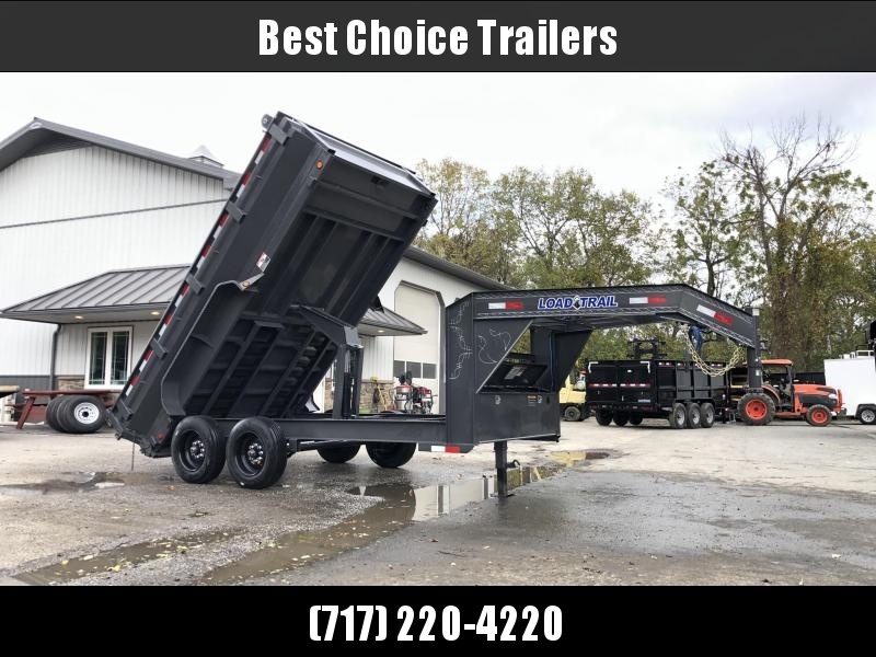 "2020 Load Trail 7x14' Gooseneck Dump Trailer 16000# GVW * DEXTER 8000# AXLES * MAX FLARED BED SIDES * 17.5"" 16-PLY TIRE UPGRADE * 8"" I-BEAM FRAME * OIL BATH * 3-WAY GATE * TARP KIT * SCISSOR HOIST * 6"" TUBE BED FRAME * 10GA 2PC SIDES/FLOOR * INTEGRATED KE"