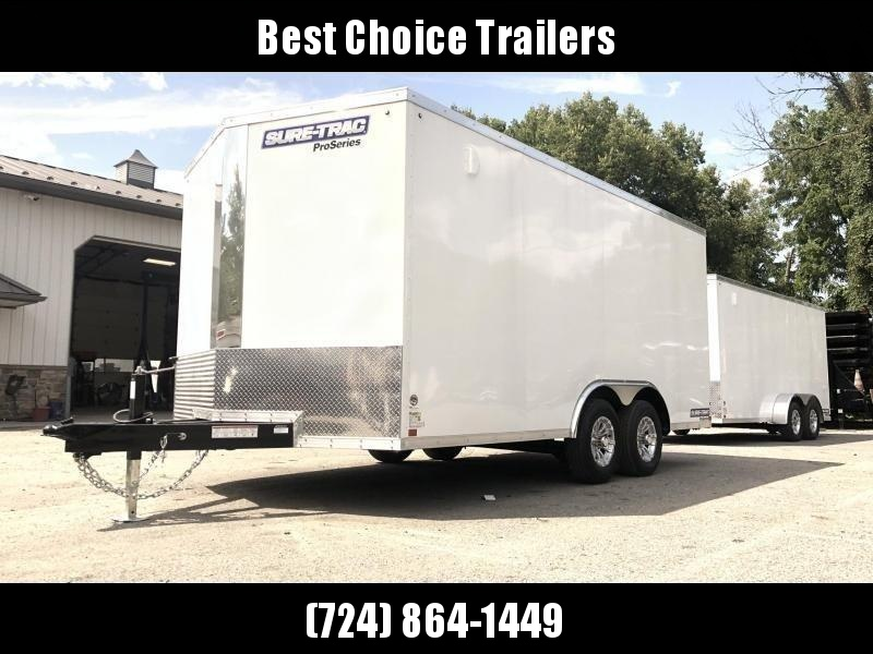 2020 Sure-Trac 8.5x16' Enclosed Cargo Trailer 9900# GVW * WHITE * TORSION * 5200# AXLES * CONTRACTOR/LANDSCAPER TRAILER