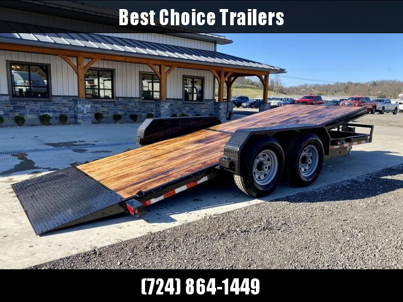 2021 Sure-Trac 7x18' Gravity Tilt Deluxe Equipment Trailer 14000# GVW * TOOLBOX * REMOVABLE FENDER * 12K JACK * OAK DECK UPGRADE IMPROVES TRACTION & DURABILITY * DROP AXLES/LOW LOAD ANGLE * RUBRAIL/STAKE POCKETS/D-RINGS * HD FENDERS * ADJUSTABLE CAST COUP