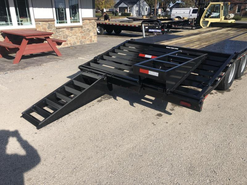"2020 Sure-Trac 102x25' HD Beavertail Deckover Trailer 25900# GVW * DEXTER 12K AXLES * DUAL JACKS * 2 SPEED JACKS * INTEGRATED TOOLBOX * FLIPOVER RAMPS + SPRING ASSIST * 12"" I-BEAM * PIERCED FRAME * RUBRAIL/STAKE POCKETS/PIPE SPOOLS/10 D-RINGS * CROSS TRAC"