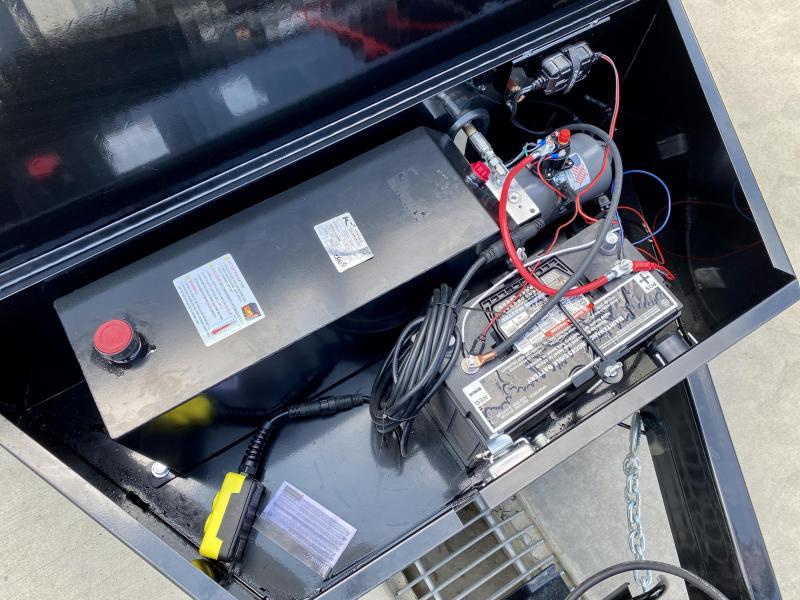 2022 Sure-Trac 7x16' LowPro HD Dump Trailer 16000# GVW * 8K AXLE UPGRADE * TELESCOPIC HOIST * DELUXE TARP KIT