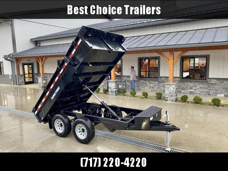 2021 Sure-Trac 6x10' Deckover Dump Trailer 9900# GVW * INTEGRATED KEYWAY * SPARE MOUNT * TARP PREP * D-RINGS * POWER UP/ DOWN * TRIPLE TUBE TONGUE * BULLET LED'S * RADIALS * POWDERCOATED * CLEARANCE