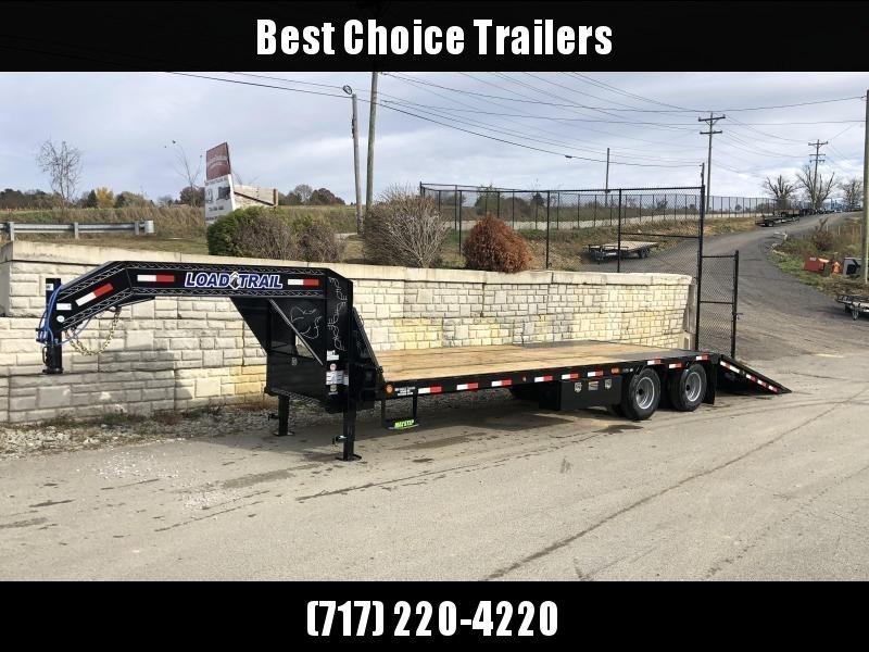 2020 Load Trail 102x30' Gooseneck Deckover Hydraulic Dovetail Trailer 22000# * GL0230102 * DEXTER'S * HDSS SUSPENSION * WINCH PLATE * BLACKWOOD * 2-3-2 * ZINC PRIMER * GREY