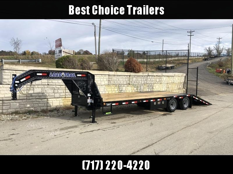2020 Load Trail 102x30' Gooseneck Deckover Hydraulic Dovetail Trailer 22000# * GL0230102 * DEXTER'S * HDSS SUSPENSION * WINCH PLATE * BLACKWOOD * 2-3-2 * ZINC PRIMER * GREY