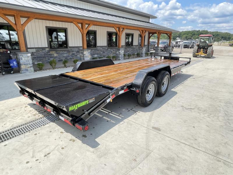 2021 Load Trail 7x22' Equipment Trailer 14000# GVW * TOOLBOX * RUBRAIL * D-RINGS * FULL WIDTH MAX RAMPS * D-RINGS * COLD WEATHER * DEXTER'S * IRONCLAD* POWDER PRIMER