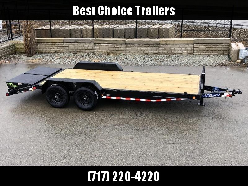 2021 Load Trail 7x22' Equipment Trailer 14000# GVW * TOOLBOX * RUBRAIL * D-RINGS * FULL WIDTH MAX RAMPS * D-RINGS * COLD WEATHER * DEXTER'S * 2-3-2 * POWDER PRIMER
