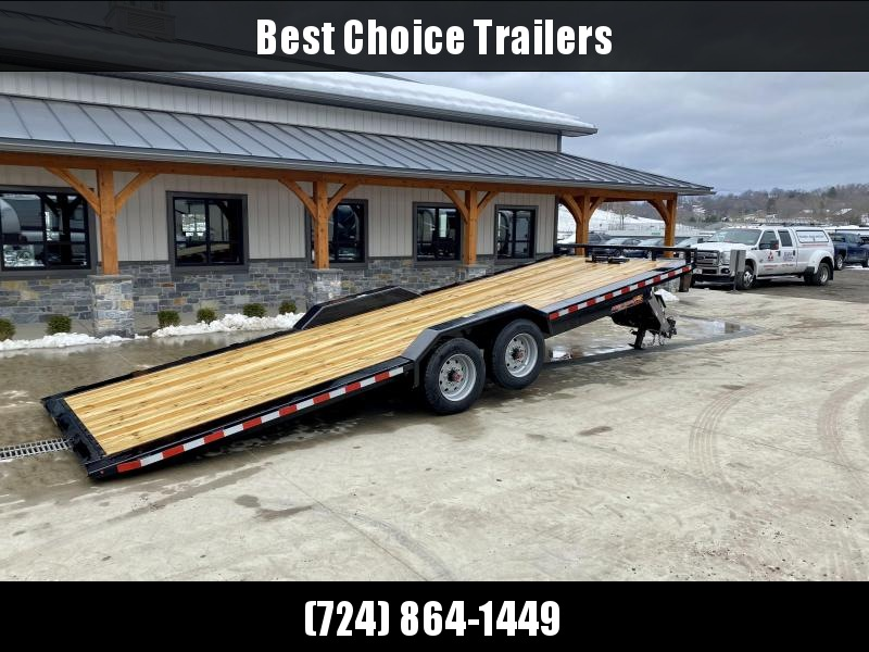 "2021 H&H 102x24' Power Tilt Equipment Trailer 16000# GVW * 8000# AXLES * POWER TILT * DUAL TOOLBOXES * 102"" DECK OUTRIGGERS * SUPER DUTY FENDERS * WINCH PLATE * INTEGRATED TAIL LIGHTS * CHANNEL C/M"