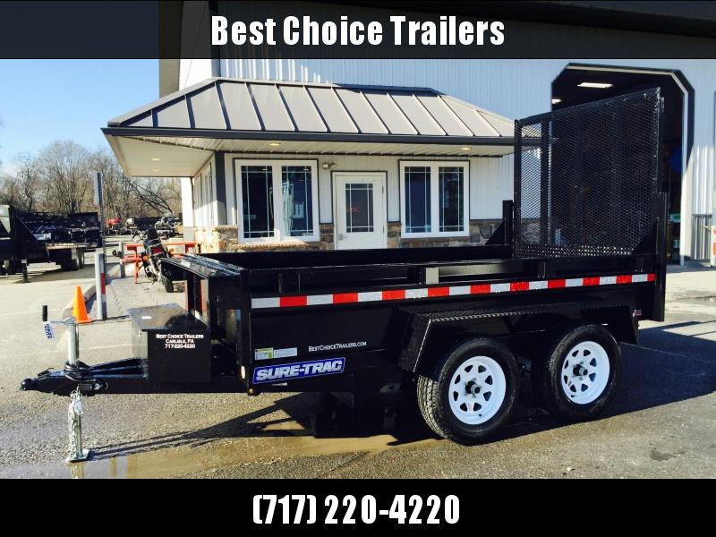 2020 Sure-Trac 5x10' Tandem Axle Dump Trailer 7000# GVW * LANDSCAPE GATE * INTEGRATED KEYWAY * SPARE MOUNT * TARP PREP * D-RINGS * DIAMOND PLATE FENDERS * POWER UP/ DOWN * TRIPLE TUBE TONGUE * BULLET LED'S * RADIALS * POWDERCOATED * SEALED HARNESS