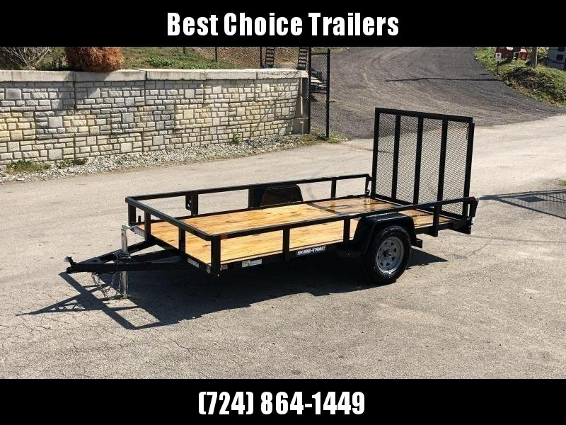 """2021 Sure-Trac 6x10' Tube Top Utility Landscape Trailer 2990# GVW * 2"""" TUBE TOP RAIL * 2X2"""" TUBE GATE C/M + SPRING ASSIST + FOLD FLAT * TOOLESS GATE REMOVAL * SPARE MOUNT * PROTECTED WIRING * SET BACK JACK * TRIPLE TUBE TONGUE * STAKE POCKETS * BULLET LED"""