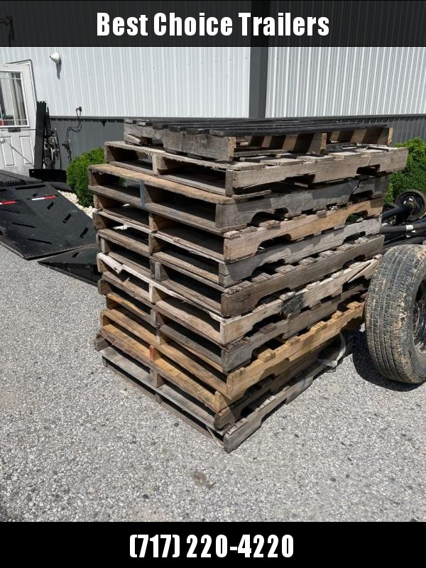 Free skids/pallets, we will load with a forklift.  Must take at least 1 stack.