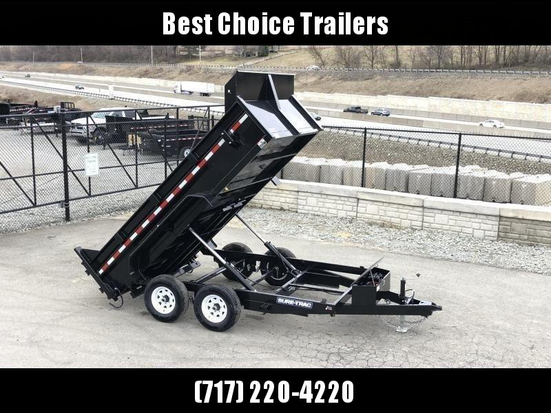 2021 Sure-Trac 7x12' LowPro Dump Trailer 12000# * DUAL PISTON