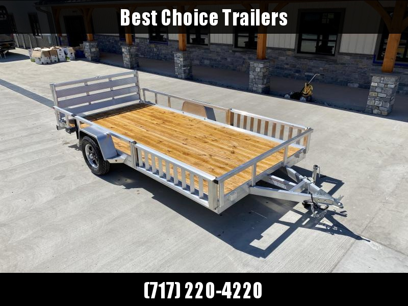 2021 Sure Trac 7x14' Aluminum Tube Top ATV Utility Landscape Trailer 2990# GVW * BI FOLD GATE * ALUMINUM WHEELS * ATV SIDE RAMPS * CLEARANCE