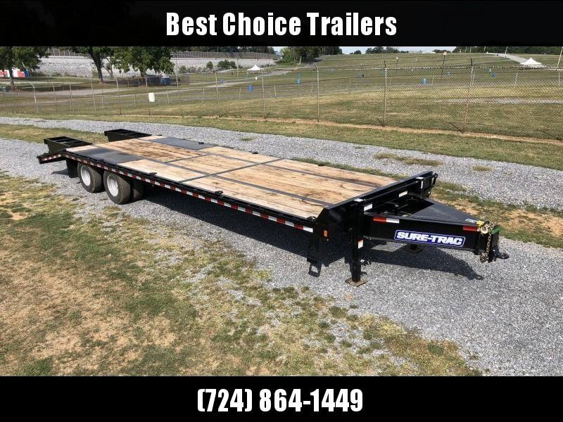 "2020 Sure-Trac 102x30' HD Beavertail Deckover Trailer 22500# GVW * PAVER SPECIAL * FULL WIDTH RAMPS * 2ND JACK * TOOLBOX * OAK BEAVERTAIL/DECK/RAMPS * DEXTER AXLES * 12"" I-BEAM * PIERCED FRAME * RUBRAIL/STAKE POCKETS/PIPE SPOOLS/(10) 1"" D-RINGS"