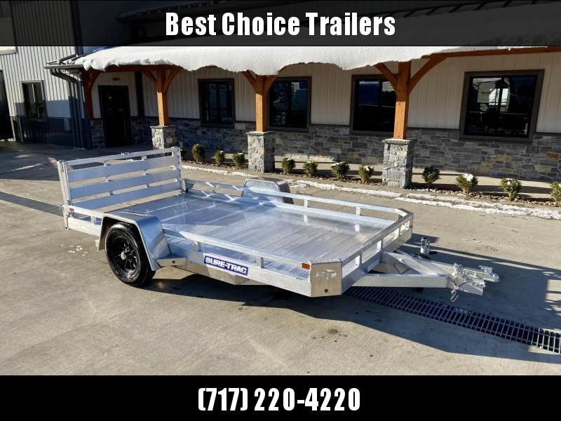 2021 Sure-Trac 7x12' All Aluminum Utility Landscape Trailer 2990# GVW * TORSION * EXTRUDED FLOOR * EXTENDED 4.5' BI FOLD GATE * LOW LOAD ANGLE! * SUPER LIGHTWEIGHT