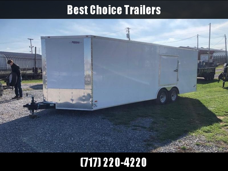 USED 2020 Freedom 8.5x22' Enclosed Car Hauler Trailer * ESCAPE HATCH * FINISHED PLYWOOD WALLS/FLOOR * TUBE STUDS * RADIALS * LED'S * CEILING LINER