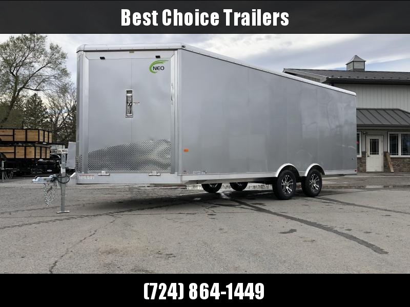 2021 NEO 8.5x20' NMS Aluminum Enclosed All Sport Car Hauler Trailer 7000# GVW * FINISHED WALLS * ALUMINUM WHEELS * ROUND TOP * FRONT RAMP DOOR