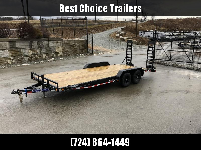 2021 Load Trail 7x18' Equipment Trailer 9990# GVW * XH8318052-EQ * STAND UP RAMPS * D-RINGS * DEXTER'S * IRONCLAD * POWDER PRIMER