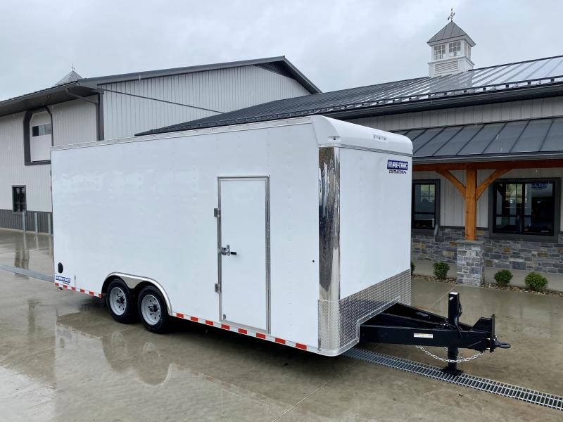 "2021 Sure-Trac 8.5x20' Enclosed Contractor Pro 16000# GVW * GEOPROBE TRAILER * DESIGNED FOR HAULING SKIDSTEER OR SIMILAR INSIDE * 8K AXLE UPGRADE * TORSION * STAND UP RAMPS * PLANK FLOOR * 17.5"" RUBBER * BACKUP LIGHTS * +18"" HEIGHT"
